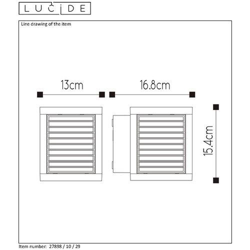 Lucide SLITS - Applique murale d'extérieur - LED - 1x10W 2700K - IP54 - Anthracite