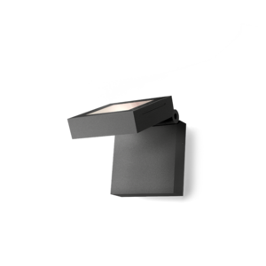 Wever & Ducré Applique X-Beam 1.0 LED Gris foncé IP65 Extérieur