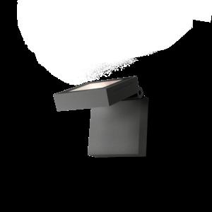 Wever & Ducré Wandlamp X-Beam 1.0 LED Donkergrijs IP65 Outdoor