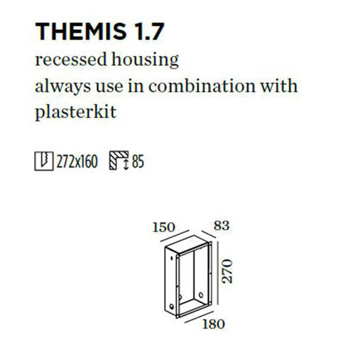 Wever & Ducré Themis WALL 1.7 built-in housing