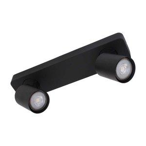 LioLights Vivaro GU10 dubbele spotbalk zwart