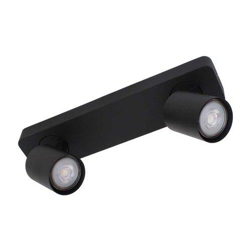 LioLights Vivaro GU10 double spot bar black
