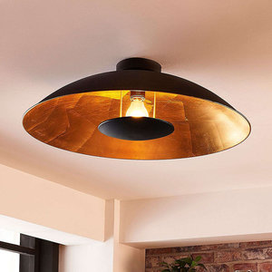 QAZQA Modern ceiling lamp black with gold - Emilienne 99270