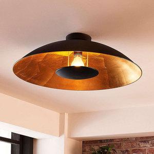 QAZQA Moderne plafondlamp zwart met goud - Emilienne 99270