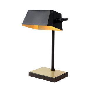 Lucide LANCE - Bureaulamp - E27 - Zwart - 45581/01/30