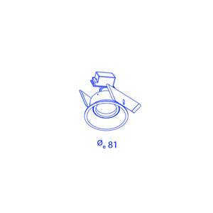 Inbouwspot Orbit borderline GU10 Blade springs
