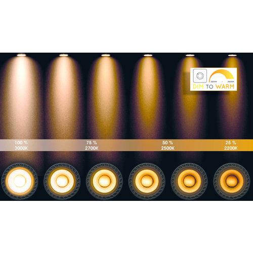 Lucide DELTO - Ceiling spotlight - Ø 5.5 cm - LED Dim to warm - GU10 - 1x5W 2200K / 3000K - Gray