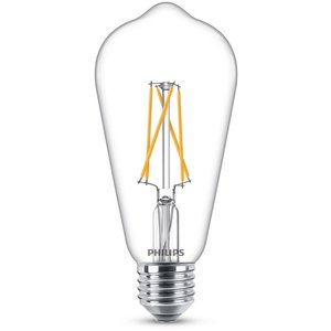 Philips LED filament ST64 E27 8,5 W 806 Lm WarmGlow