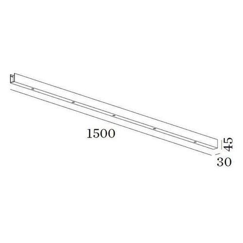 Wever & Ducré Accessories beam 1500mm black
