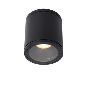 Lucide AVEN - Spot de plafond Salle de bain - Ø 9 cm - GU10 - IP65 - Noir