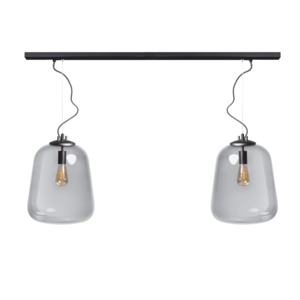 ETH Hanglamp Benn 2 lichts - zwart - 120/8cm - 05-HL4478-30