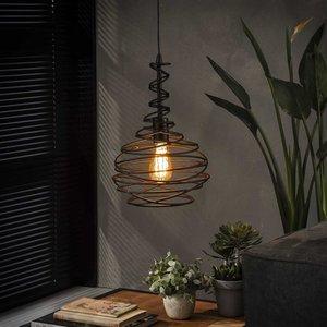 LioLights Vintage Hanglamp 1x Ø25 kegel spinn
