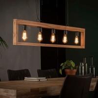 Lampe à suspension vintage 5L modulo cadre en bois