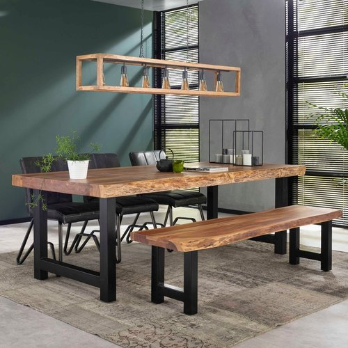 Table de salle à manger tronc d'arbre 200