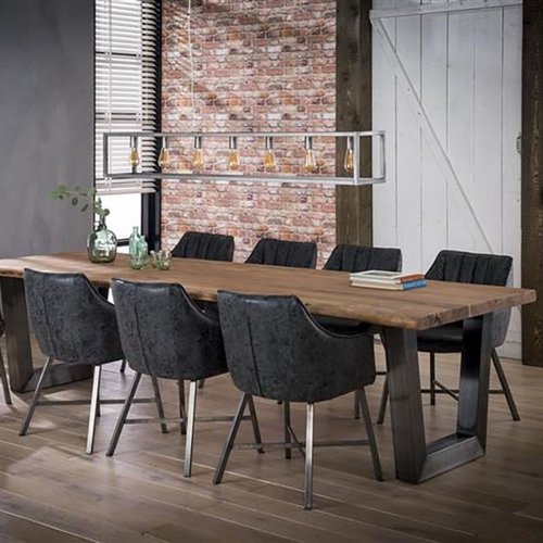 Dining room table 300 trunk 60mm black stainless steel