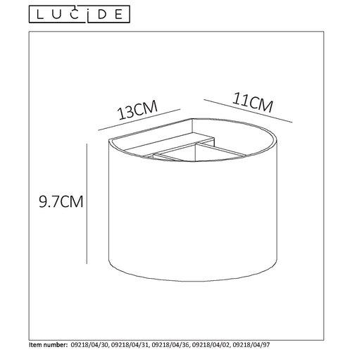 Lucide XIO - Spot mural - LED Dimb. - G9 - 1x3.5W 2700K - Brun rouille