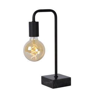 Lucide LORIN - Tafellamp - 1xE27 - Zwart - 45565/01/30