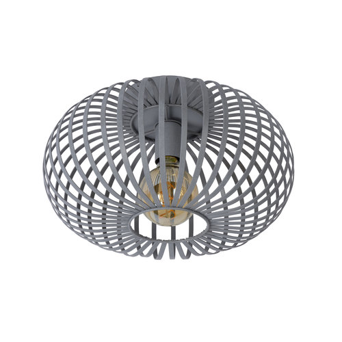 Lucide MANUELA - Ceiling light - Ø 40 cm - E27 - Gray - 78174/40/36