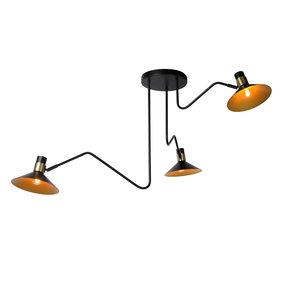 Lucide PEPIJN - Ceiling lamp - Ø 108 cm - E14 - Black - 05128/03/30
