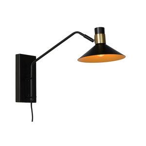 Lucide PEPIJN - Wandlamp - E14 - 3 StepDim - Zwart - 05228/01/30