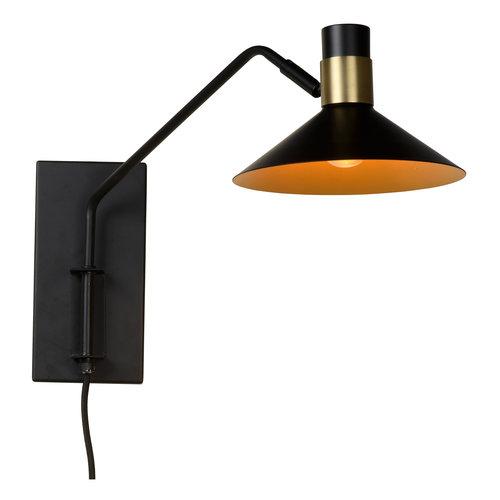 Lucide PEPIN - Wall lamp - E14 - 3 StepDim - Black - 05228/01/30