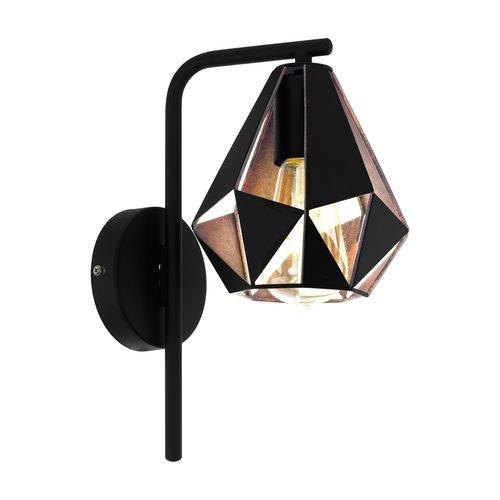 EGLO Wandlamp CARLTON 4 zwart/koper 43057