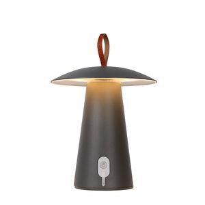Lucide LA DONNA - Tafellamp Buiten - Ø 19,7 cm - LED Dimb. - 1x2W 2700K - IP54 - 3 StepDim - Antraciet