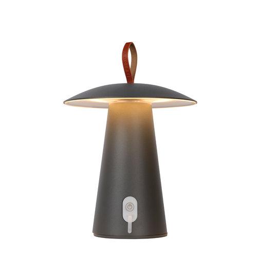 Lucide LA DONNA - Lampe de table d'extérieur - Ø 19,7 cm - LED Dimb. - 1x2W 2700K - IP54 - 3 StepDim - Anthracite