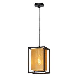 Lucide SANSA - Hanging lamp - E27 - Black - 21422/01/30