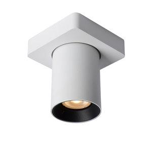 Lucide NIGEL - Plafondspot - LED Dim to warm - GU10 - 1x5W 2200K/3000K - Wit