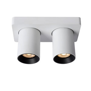 Lucide NIGEL - Ceiling spot - LED Dim to warm - GU10 - 2x5W 2200K / 3000K - White