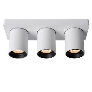 Lucide NIGEL - Plafondspot - LED Dim to warm - GU10 - 3x5W 2200K/3000K - Wit