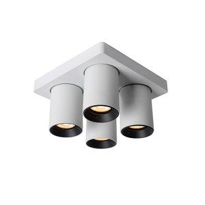Lucide NIGEL - Plafondspot - LED Dim to warm - GU10 - 4x5W 2200K/3000K - Wit