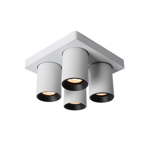 Lucide NIGEL - Ceiling spot - LED Dim to warm - GU10 - 4x5W 2200K / 3000K - White