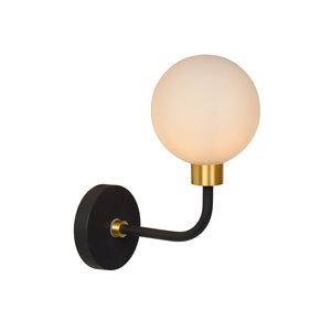 Lucide BEREND - Wall lamp Bathroom - G9 - IP44 - Black - 30265/01/30