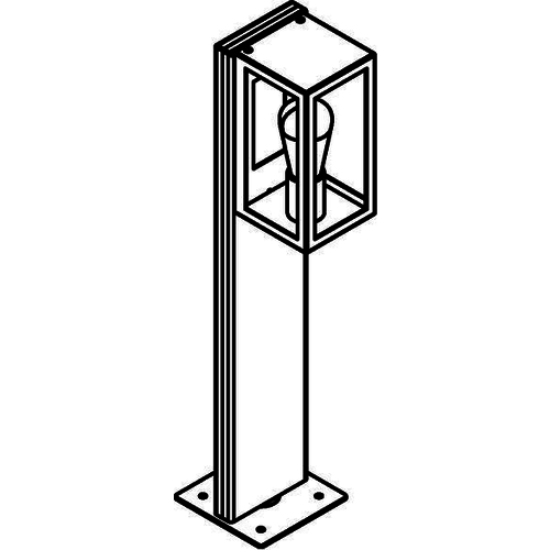 PSM Lighting Poteau de jardin Polo 70cm noir T796.700.32X