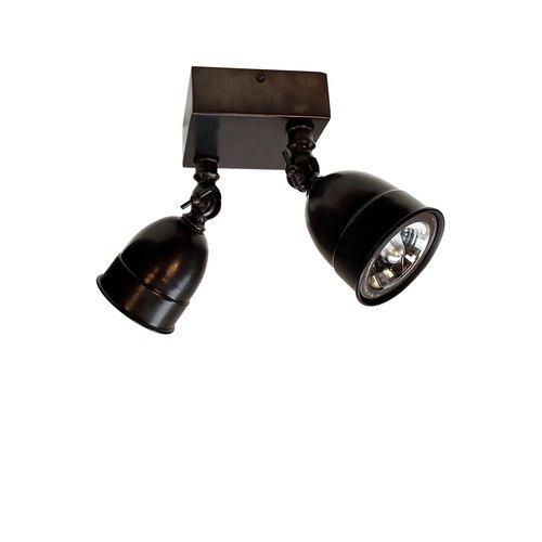 Authentage Spot de surface LED POIRE SUR BASE CARRÉE MOYEN 2L