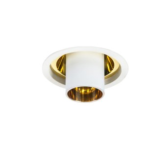 Authentage Rural recessed spot AUREOLE LONG TUBE GOLD REFLECTOR GU10