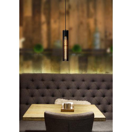 Lucide LIONEL - Pendant lamp - Ø 6.5 cm - E27 - Black - 73406/01/30
