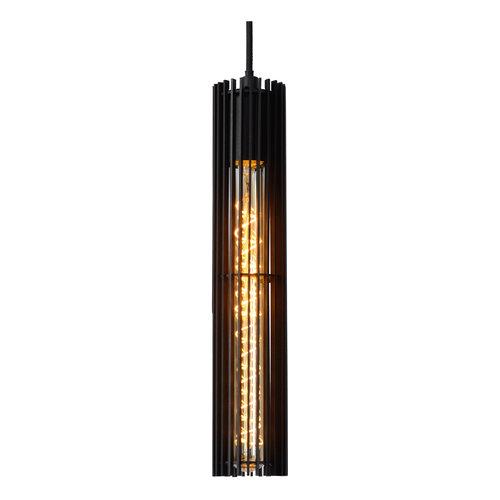 Lucide LIONEL - Pendant lamp - Ø 6.5 cm - E27 - Black - 73406/05/30