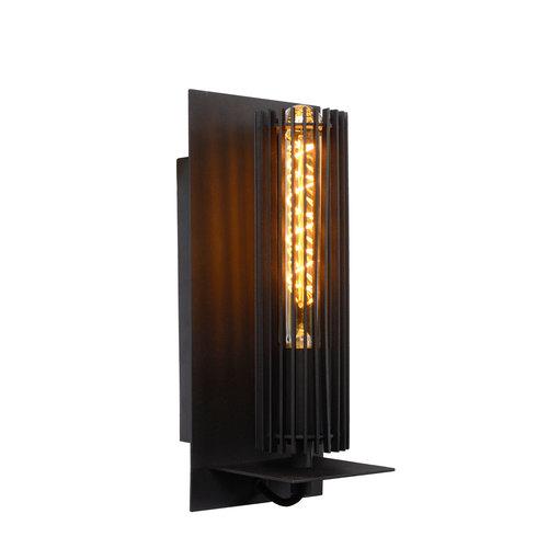 Lucide LIONEL - Wandlamp - Ø 6,5 cm - E27 - Zwart - 73206/01/30
