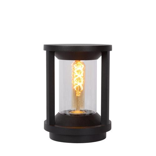 Lucide CADIX - Sokkellamp Buiten - Ø 16 cm - E27 - IP65 - Zwart - 15804/22/30