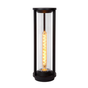 Lucide CADIX - Sokkellamp Buiten - Ø 16 cm - E27 - IP65 - Zwart - 15804/50/30