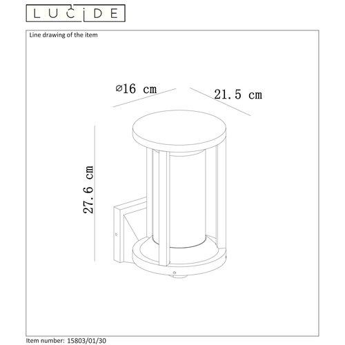 Lucide CADIX - Applique d'extérieur - E27 - IP65 - Noir - 15803/01/30
