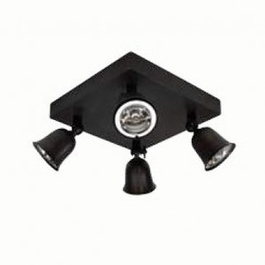 Authentage Surface-mounted spotlight FLEURE ON SQUARE BASE LARGE 4L