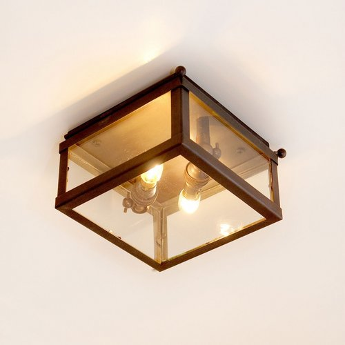 Authentage Country ceiling lamp VITRINE PETITE CEILING 2L
