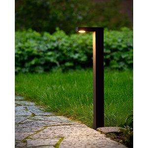 Lucide TEXAS - Sokkellamp Buiten - LED - 1x6W 3000K - IP54 - Antraciet - 28851/60/30