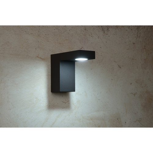 Lucide TEXAS - Wall spotlight Outdoor - LED - 1x6W 3000K - IP54 - Anthracite - 28850/23/30