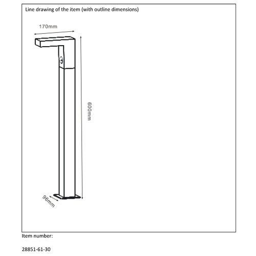 Lucide TEXAS-IR - Pedestal lamp Outdoor - LED - 1x6W 3000K - IP54 - Anthracite - 28851/61/30