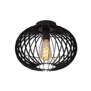 Lucide REDA - Flush ceiling light - Ø 32 cm - E27 - Black - 78199/01/30